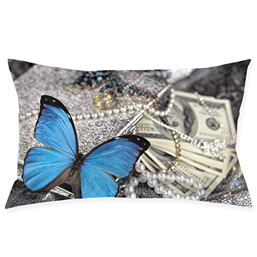 erfly Pillowcase - Zippered Pillowcase, Pillow Protector, Best Pillow Cover - Standard Size 20x30 Inches, Double-Sided Print ()