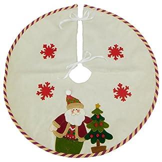 Christmas Concepts® Falda de árbol de Navidad tradicional de diseño de 21 pulgadas con diseño de Santa, Tree & Snowflake