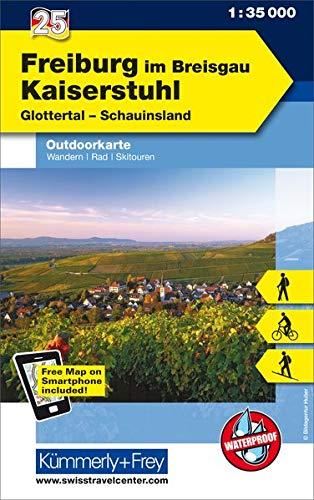 Freiburg im Breisgau - Kaiserstuhl, Glottertal, Schauinsland: Nr. 25, Outdoorkarte Deutschland, 1:35 000, Mit kostenlosem Download für Smartphone (Kümmerly+Frey Outdoorkarten Deutschland)