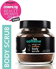 mCaffeine Naked & Raw Coffee Body Scrub, 100 g | Coconut | Tan Removal | Oily/Normal Skin | Paraben &