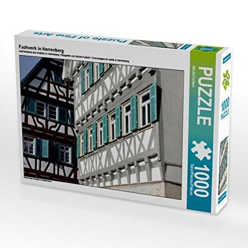 Fachwerk in Herrenberg 1000 Teile Puzzle quer