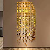 LZYZOY Etiqueta De La Pared 3D Rubik'S Cube Acrílico Cristal 3D Adhesivos De Pared Dormitorio TV Espejo De Pared Adhesivos De Pared
