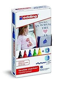 edding 4-4500-5 Textilmarker, Rundspitze, 2-3 mm, sortiert
