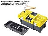 Patrol Group SKR20SPSCARZOLPG001 Werkzeugkoffer Werkzeugkasten Toolbox Werkzeugbox Angelkiste Alu-Klickverschluss Semi-Profi 20 '' XL, gelb