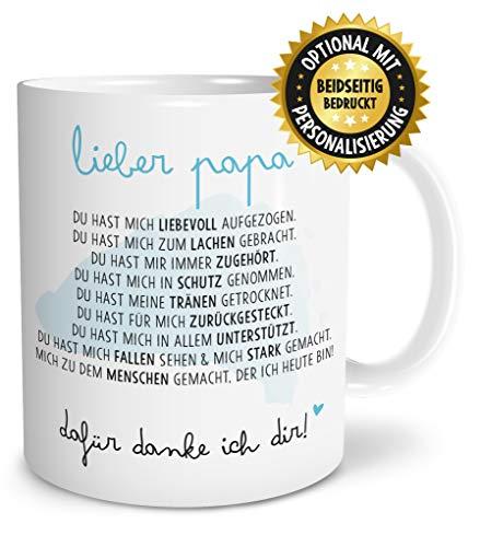 OWLBOOK Danksagung Papa große Kaffee-Tasse mit Spruch im Geschenkkarton schöne Geschenkidee Geschenke für Deinen Vater