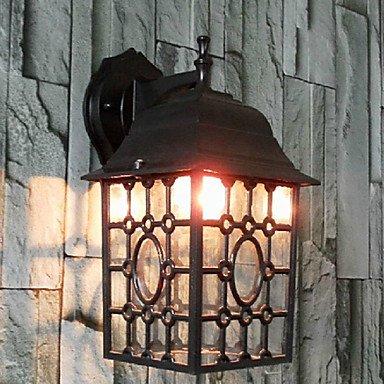 Outdoor Wall Light, une lumière, classique en aluminium créateur Peinture sur verre