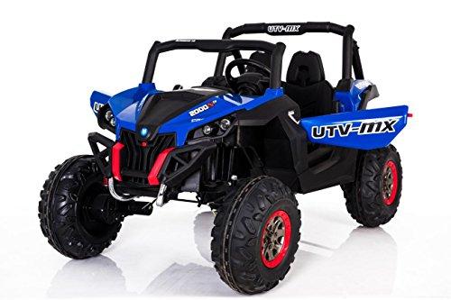 OFFROAD Rocker 4x45W 2x12V Elektroauto Kinder Elektro Auto Kinderfahrzeug Ferngesteuert Elektro (Blau)