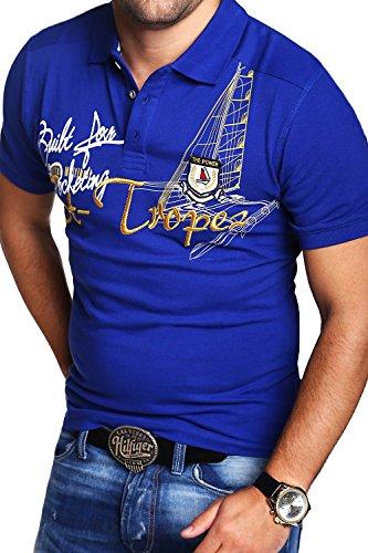 MT Styles Poloshirt TROPEZ T-Shirt MP-5001 Blau