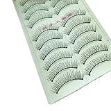 10 Paar Natürliche Mode Wimpern Augen Make-Up Handmade Lange Falsche Die Bevorzugte Wimper FüR Das Modeleben, Entworfen Um Perfekte Zu Schaffen Schönheit illimitable (Schwarz)