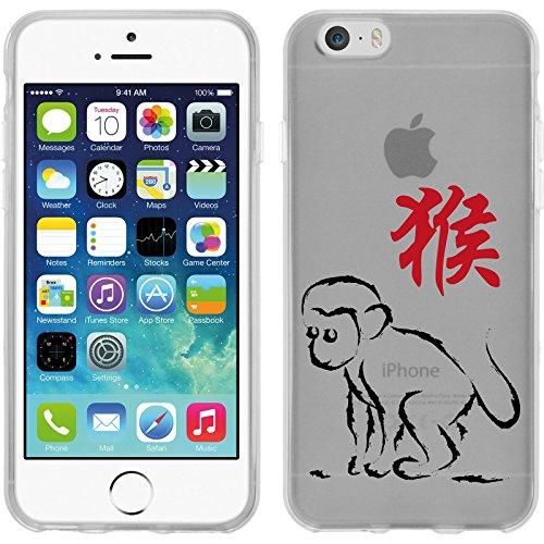 PhoneNatic Case für Apple iPhone 6 Plus / 6s Plus Silikon-Hülle Tierkreis Chinesisch M4 Case iPhone 6 Plus / 6s Plus Tasche + 2 Schutzfolien Motiv 09
