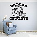 Cool Cowboys Decalcomania Del Vinile Adesivo Da Parete Logo Calcio Famoso Sport Interno Decorazione Smontabile 55x60cm