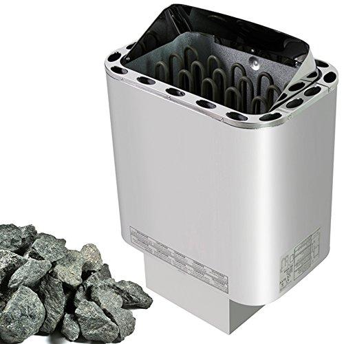 Saunaofen Nordex 4,5 kW, Außenmantel Edelstahl, mit Saunasteine