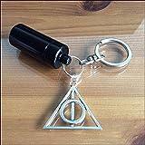 Souvenirs intemporels KGS Compartiment Secret Tube cachette Tube Pilule Tabac Caisse Porte-clés Porte-clés Harry Potter (Noir)
