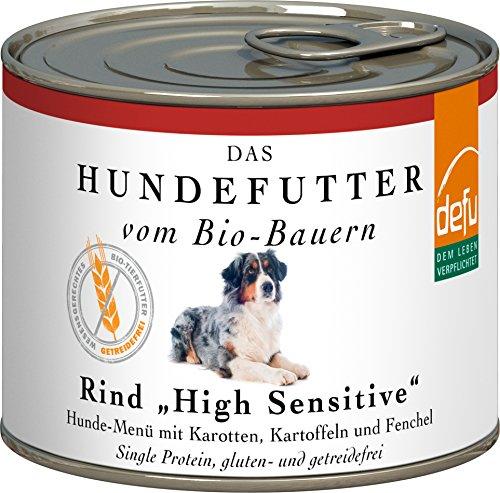 defu Bio Hundefutter Nassfutter getreidefrei mit feinem Rind | Hundefutter mit hohem Fleischanteil von 87 Prozent