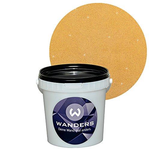 Wanders24 glimmer optik 1 liter gold sand glitzerfarbe glitzer wandfarbe glitzereffekt - Wandfarbe gold glitter ...