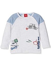 s.Oliver Baby-Jungen Spieler T-Shirt Langarm, Weiß (White Melange 90W0), 80
