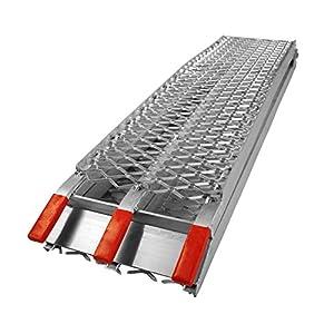 Folding loading ramp scooter ramp ATV Quad portable aluminium 89x11.6 inches 750lbs (226cm 340kg)