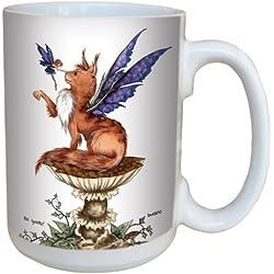 Árbol de-free de felicitación lm43610 15 oz Fantasy Be Good gato y taza de cerámica con diseño de hada con mango completo