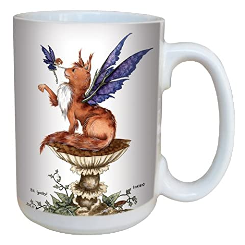Tree-Free Greetings lm43610 15 oz Fantasy Be Good Cat and Fairy Ceramic Mug with Full Sized Handle