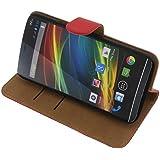 Tasche für Wiko Slide Book Style rot Kreditkarte Schutz Hülle Buch