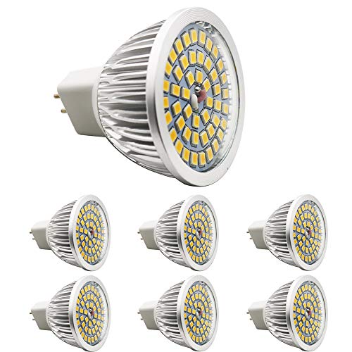 Set of 6; A New Product MR16 LED Bulb; 48 * 2835 SMD 520LM 6 W LED Bulbs, Energy Saving, Perfect for Replacing 50 W Halogen Bulbs (High Lumens Output – 12 V AC/DC Warm White 120 Degree Beam Angle LED Bulb Ø58 x 48 mm