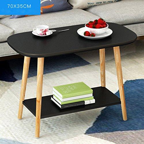 Wohnzimmer Couchtisch multifunktionale Schlafzimmer Sofa Schreibtisch Tee Tischregal ( Farbe : Schwarz - Schreibtisch Leiter Schwarz