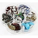 Caja para creación de alhajas con accesorios para pegar (cristal, 70 unidades), multicolor