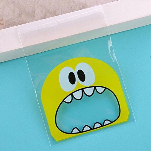 yipinco7285100selbstklebend Keks Tasche SWEET CANDY niedliches Kunststoff Geschenk Paket für Party Same as the picture Yellow Big (Hausgemachte Halloween Geschenk Taschen)