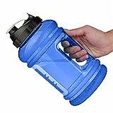 DOLDOA Water Jug,Sport Wasserflasche,Trinkflasche,Trainingsflasche, Bottle,Perfekt für den täglichen Wasserbedarf,Ideal für Training, Fitness und Sport,Yoga, Gym, Cross-Fit, Body-Building, Freizeit, Muskelaufbau und zum Abnehmen (Größe Wasserflasche : 2,2L, blau)