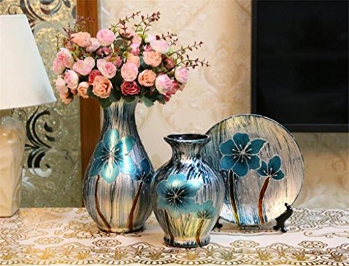 european-style-ceramics-three-sets-american-style-vase-wobble-set-living-room-decorations-hand-paint