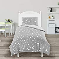 Utopia Bedding Kids Bedding Set - Duvet Cover & Pillowcase - Reversible Duvet Cover Set - (Toddler/Junior/Cot Bed, Grey & White)