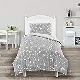 Utopia Bedding Kids Bedding Set - Stars & Moon Reversible Duvet Cover Set - Microfiber Duvet Cover & Pillowcase