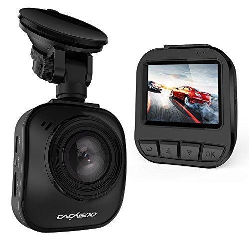 """CACAGOO Telecamera per Auto DVR 2"""" TFT LCD HD 1296P Dashboard Videoregistratore Dash Cam 170°Ampio Angolo con Ambarella A7L G-sensore Motion Detection Registrazione Parcheggio Monitor Visione Notturna Nero"""