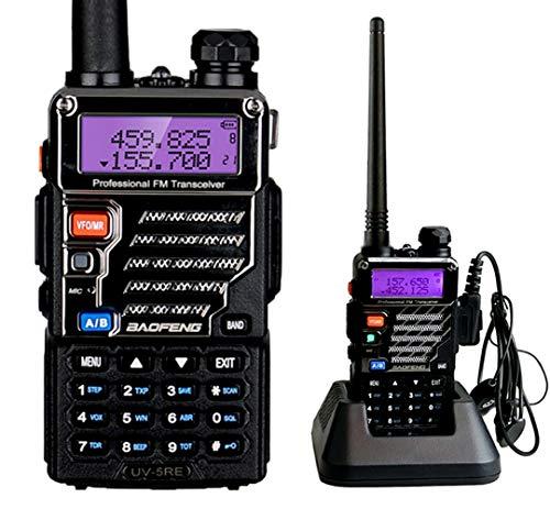Baofeng UV-5RE Dual Band UHF/VHF Radio bidirezionale con Auricolare