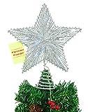 """8 """"Federnd Stern mit weißer LED Lights - Christmas Tree Top Star / Weihnachtsdekoration"""