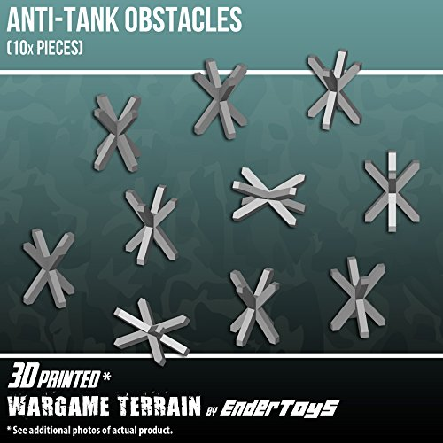 EnderToys Anti-tank Obstacle, Terrain Scenery for Tabletop 28mm Miniatures  Wargame, 3D Printed and Paintable