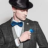 Coolman Herren Leder Armband Schwarzes u. Silbernes Stulpe Armband Wristband für Männer(Mit hochwertiger Schmuck schatulle) - 2