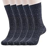Hans Executive Crew Socks for Men (Pack of 5) (c5-blk)