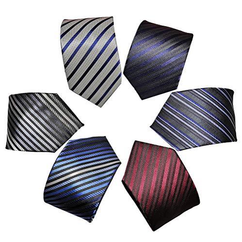 Lotto 6 PCS Classico Formale elegante Uomo Cravatta di seta Designer Cravatta