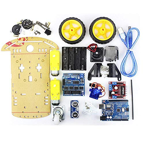 Onepeak 2-Rad Smart Robot Car Chassis Kit Drehzahlgeber Sonic Sensor Tracking Motor Module kompatibel für Arduino Project
