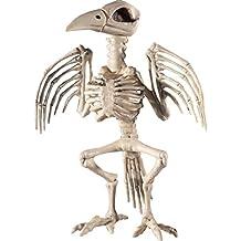 Adorno Halloween Ave | Esqueleto Decorativo Pájaro | Ornamentación de Terror Corneja | Osambre Deco Cuervo