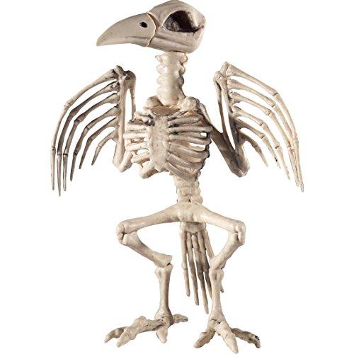 ochen Dekofigur Rabe Grusel Dekoration Gerippe Halloweendeko Krähe Horror Partydeko Raumdeko Halloween Skelett Vogel (Halloween-dekoration Skelett Knochen)