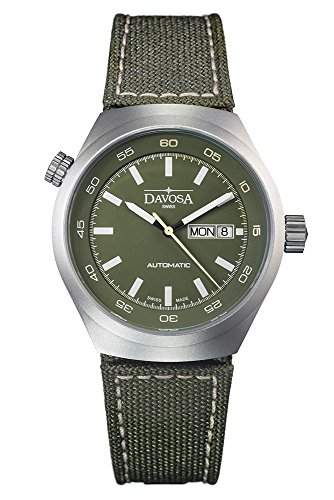 Davosa Automatic Green Face Strap Stainless Steel Trailmaster Wrist Watch