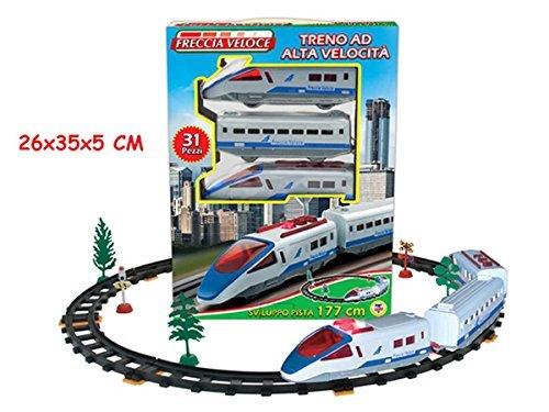 Teorema 63897 - Treno Freccia Veloce, Set Completo Pista, 177 cm