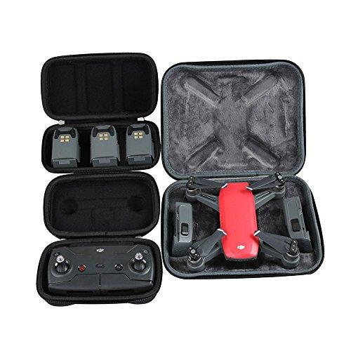 Hart EVA Reise Schwarz Fall zum DJI Spark Drohne + Remote Controller + 3 Batteries durch Hermitshell