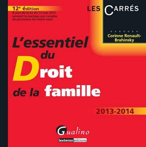 L'essentiel du droit de la famille 2013-2014