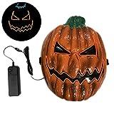 Máscara de calabaza brillante para Halloween, máscara de disfraz de LED,...