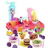 Bescita Pretend Spielzeug - DIY Nudeln Little Chef Edelstahl Geschirr Spielzeuge Kochgeschirr Küche Spielzeug Küche Spielzeug Töpfe Pfannen Geschenk Pretend Toy (A)