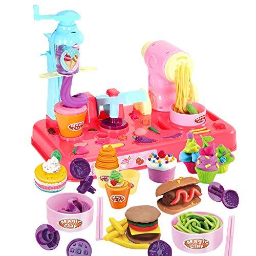 Bescita Pretend Spielzeug - DIY Nudeln Little Chef Edelstahl Geschirr Spielzeuge Kochgeschirr Küche Spielzeug Küche Spielzeug Töpfe Pfannen Geschenk Pretend Toy (A) - Beliebte Kochgeschirr