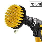 Drill brush - Spazzola trapano per la pulizia delle setole di media durezza di 13cm per piastrelle pavimento cucina bagno mattone